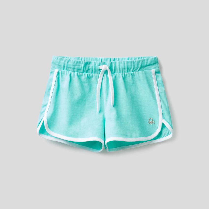 100% cotton runner style shorts