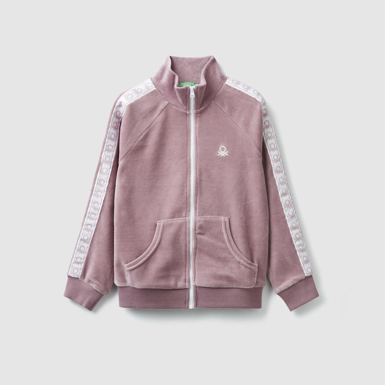Sweatshirt in chenille with zip
