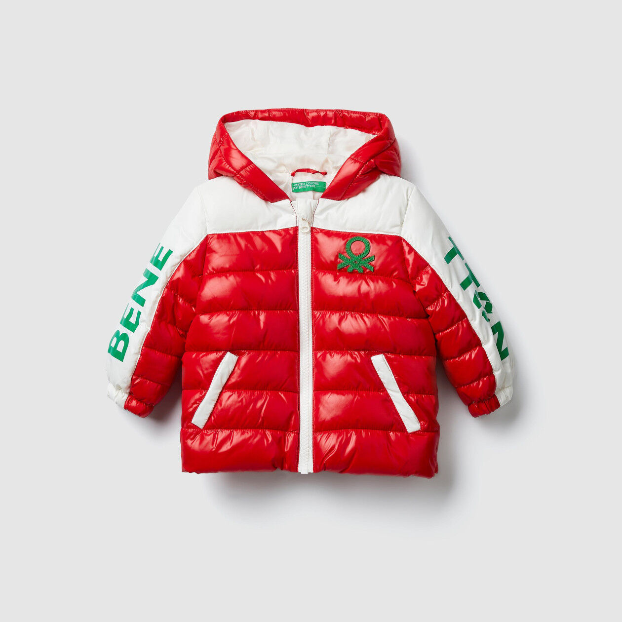 """""""Eco-Recycle"""" padded jacket with logo"""
