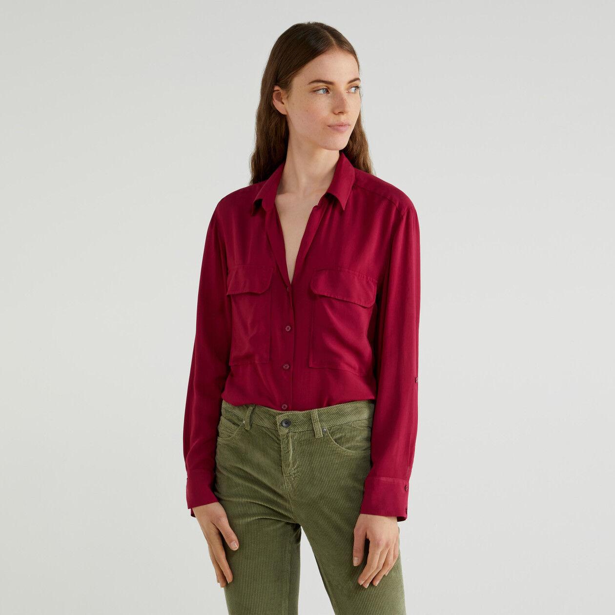 Flowy viscose shirt