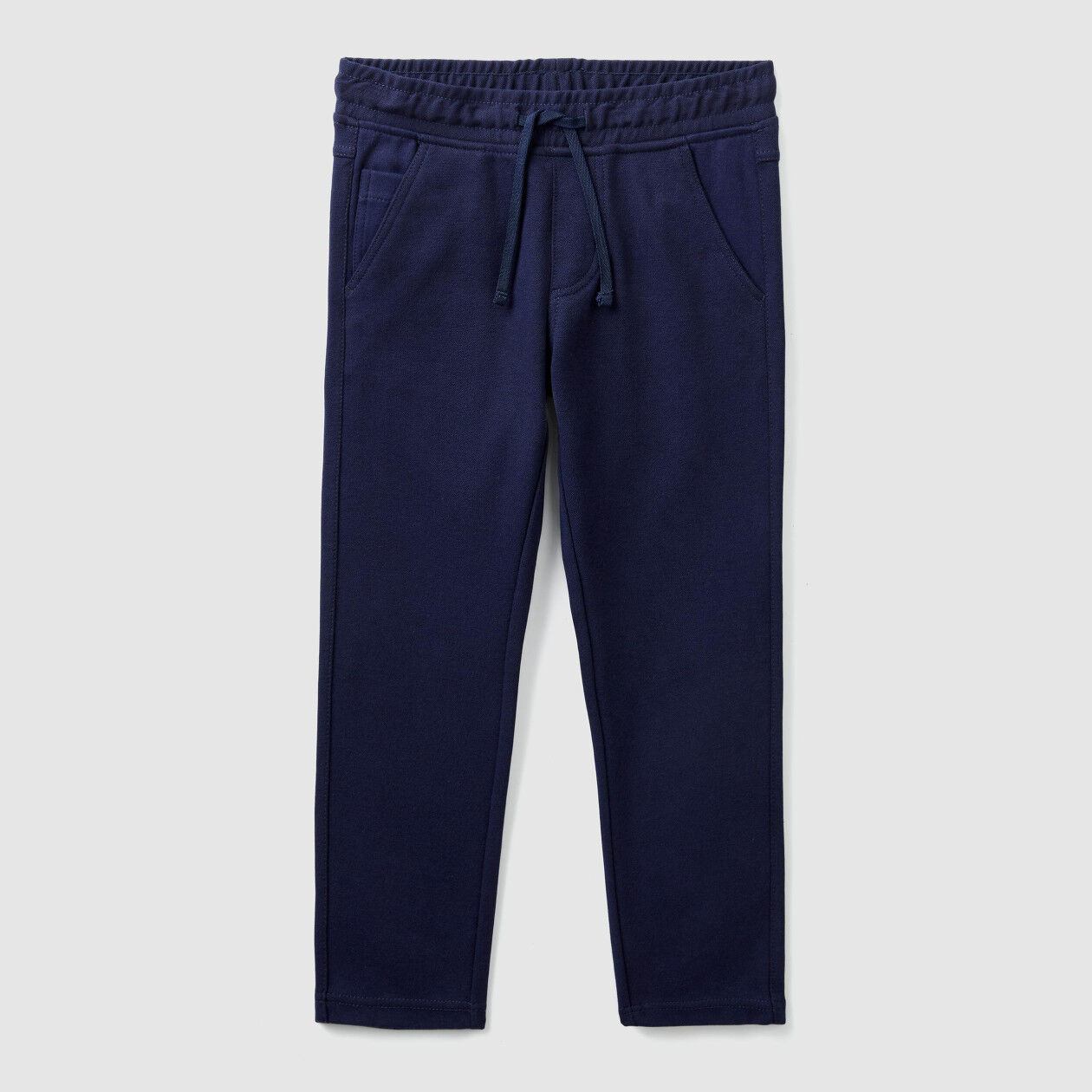 Slim fit pique trousers