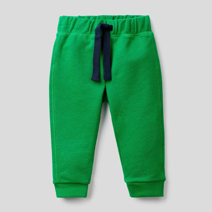 Trousers in 100% cotton fleece