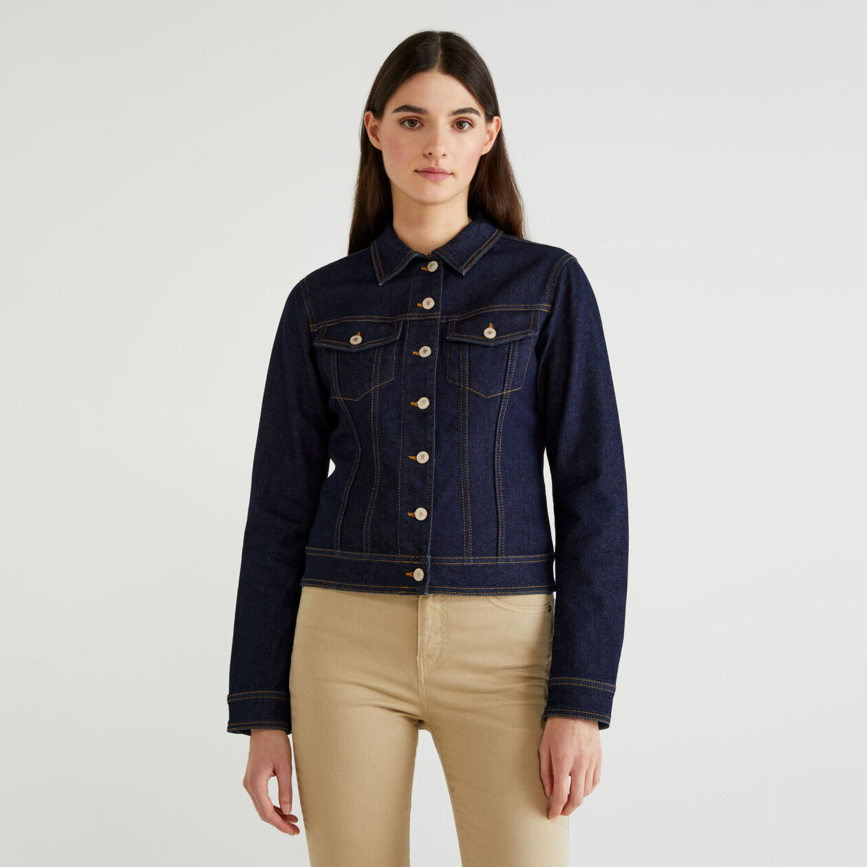 Stretch denim jacket