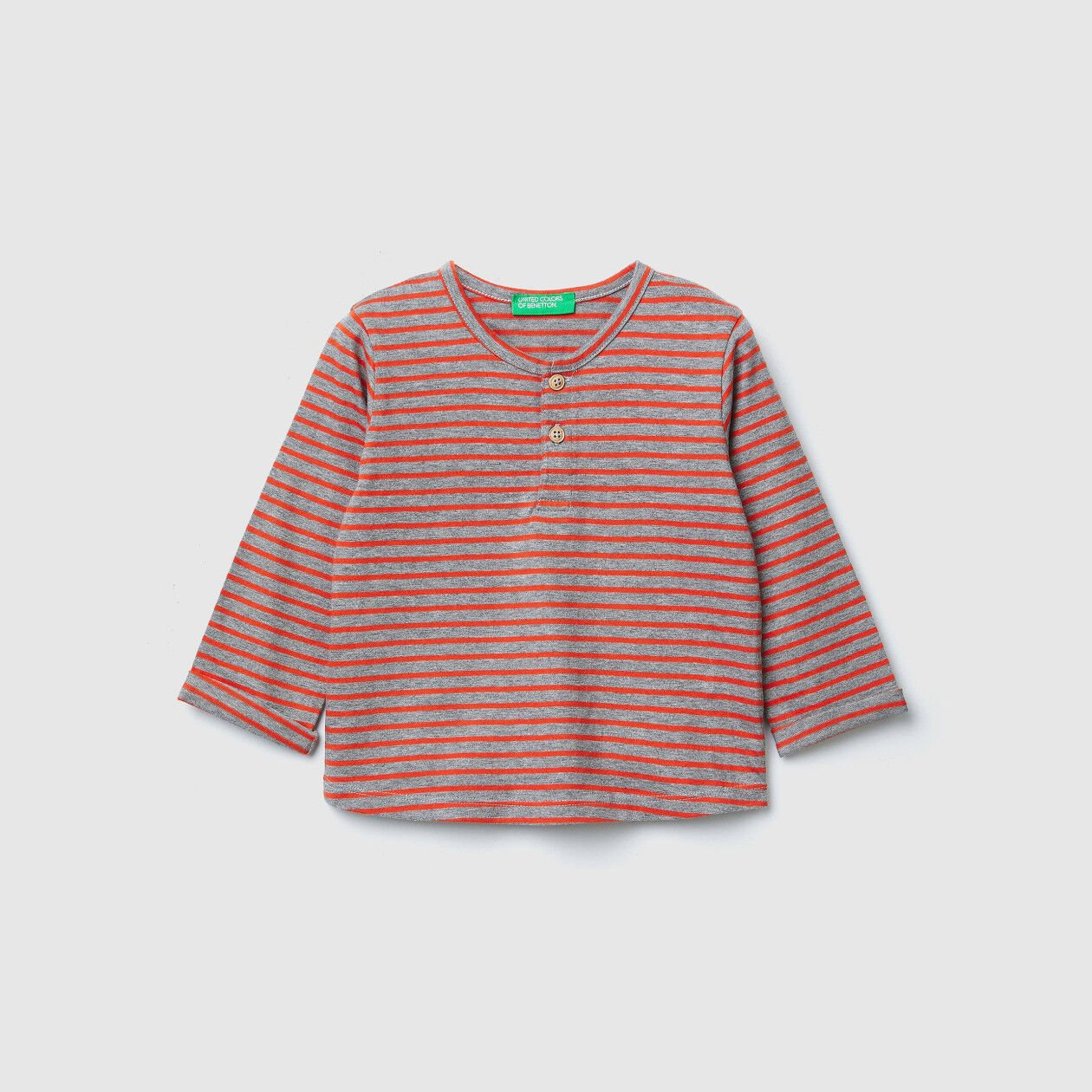 Striped t-shirt with patches