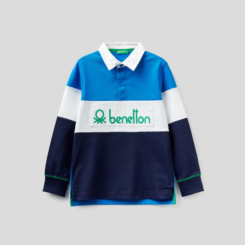 Rugby polo in 100% cotton