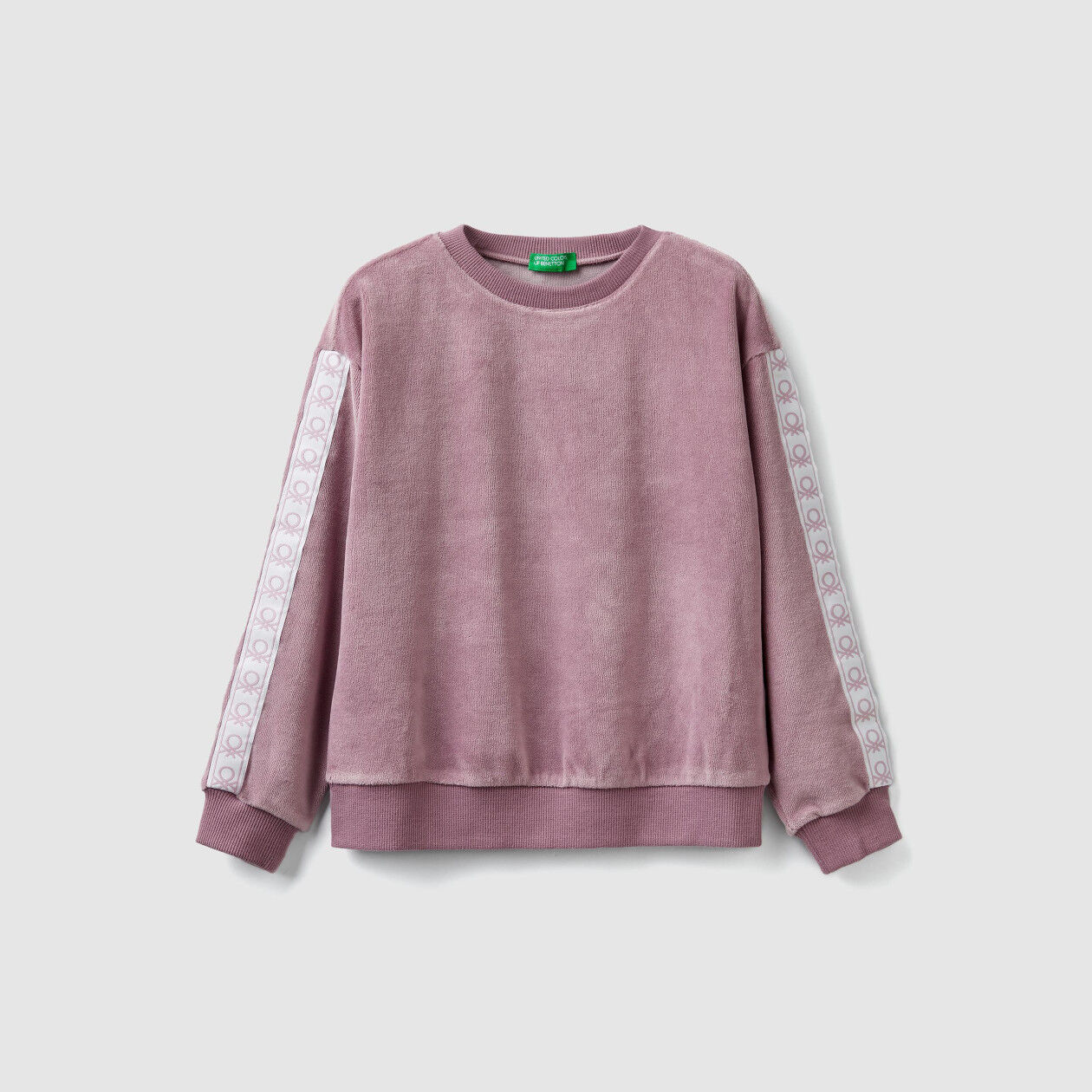 Chenille sweatshirt with bands