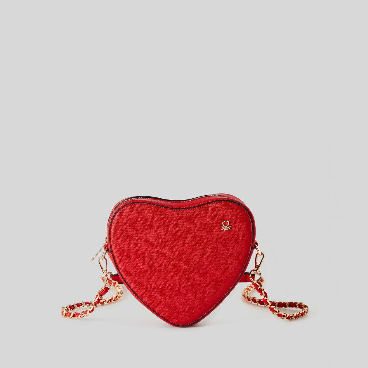 Heart purse with crossbody strap