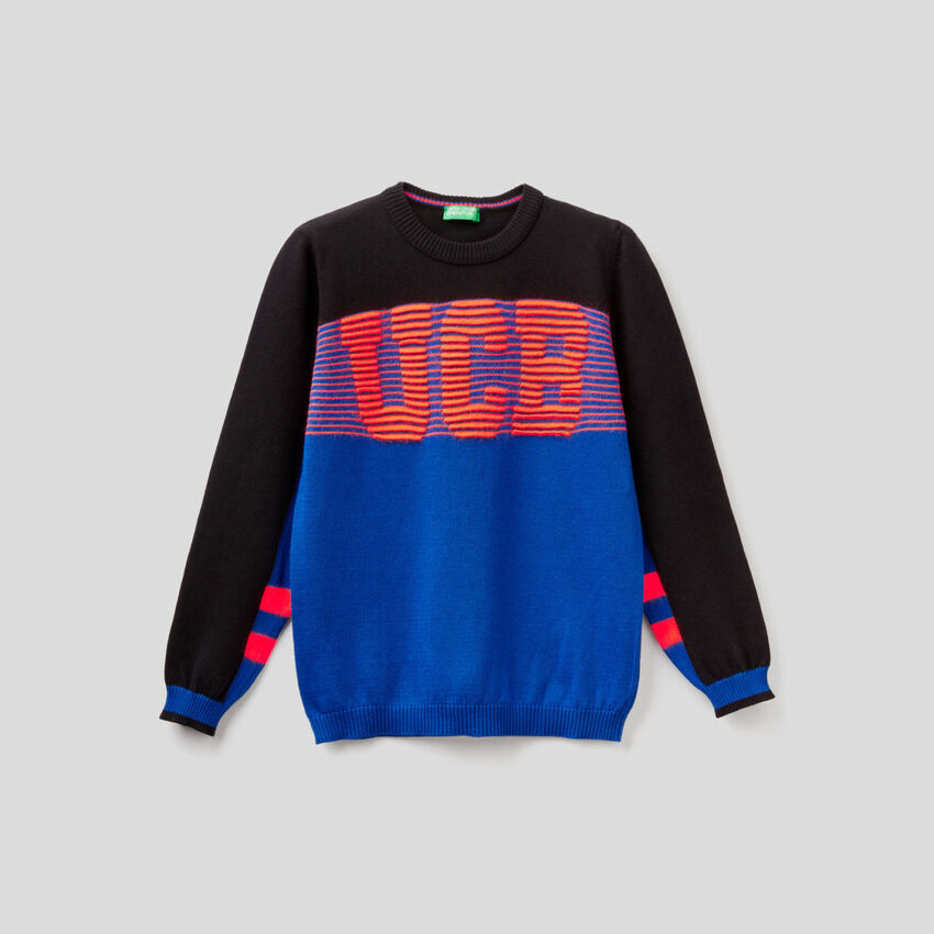 Crew neck sweater with logo