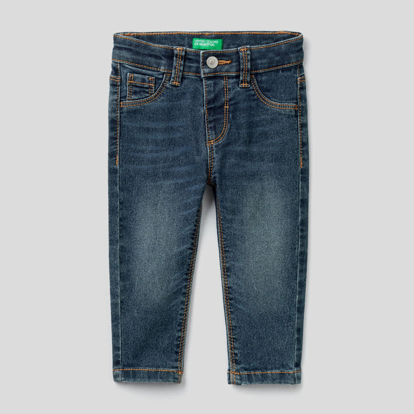 Skinny fit jeans in stretch cotton blend