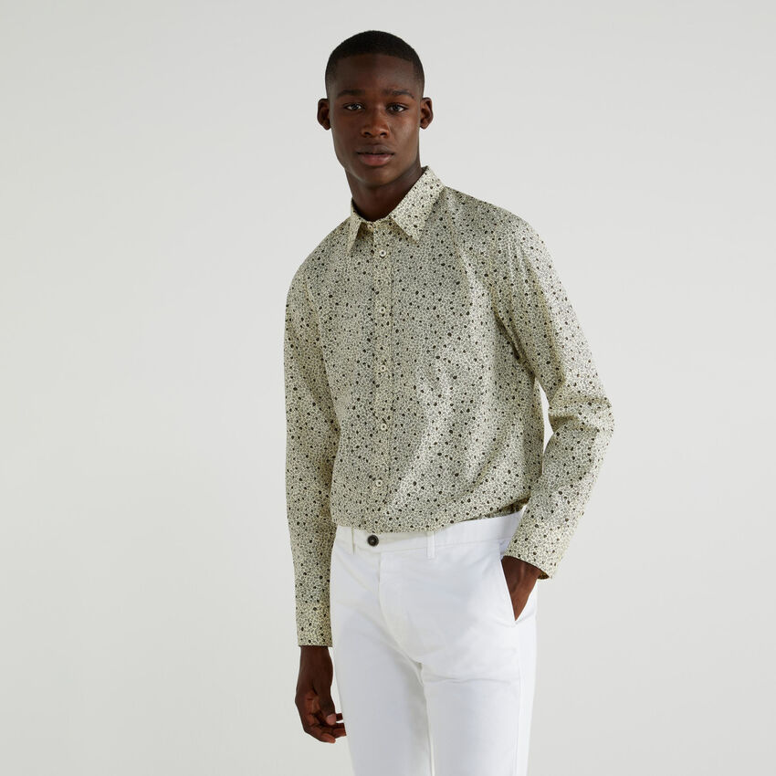 Printed slim fit shirt