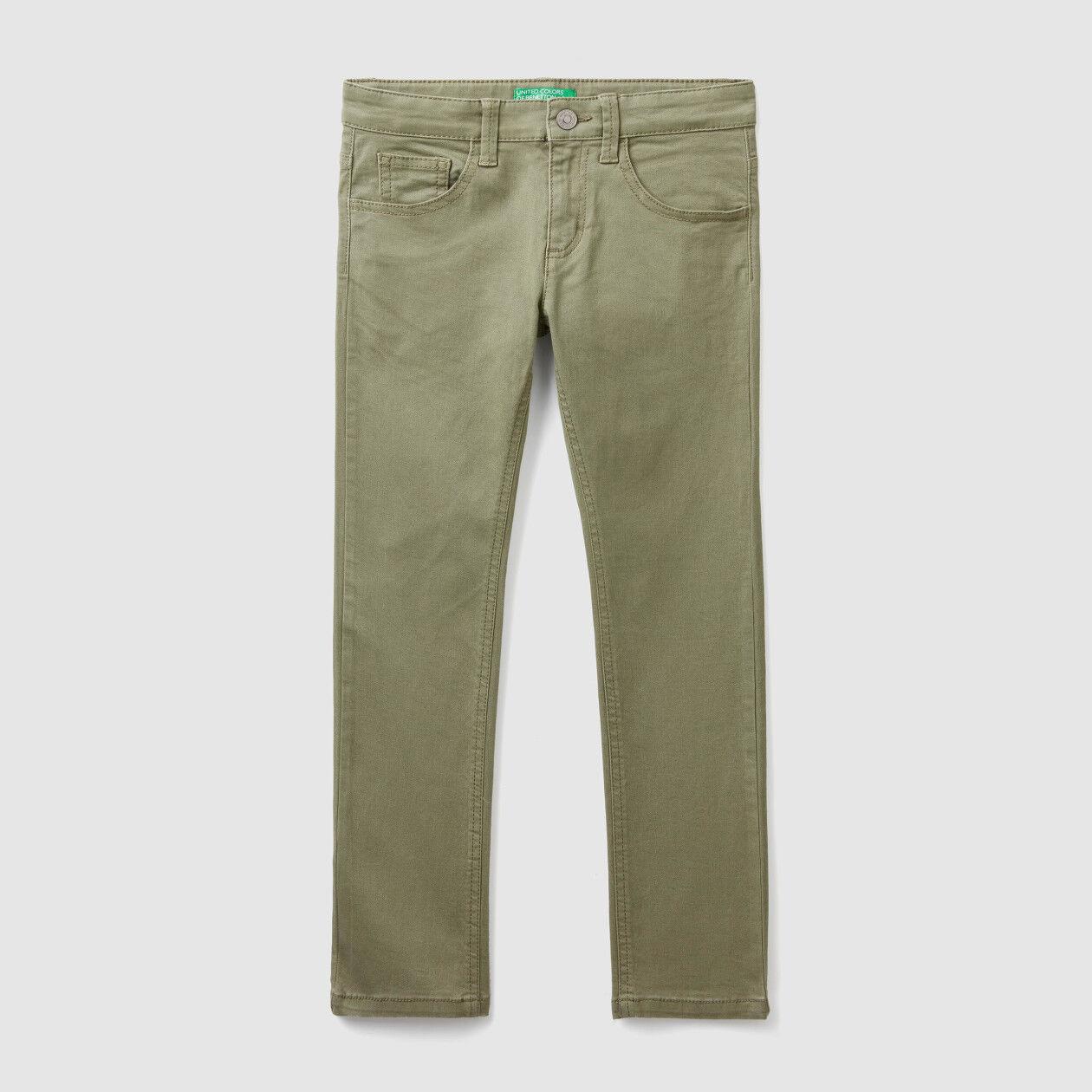Five pocket slim fit pants