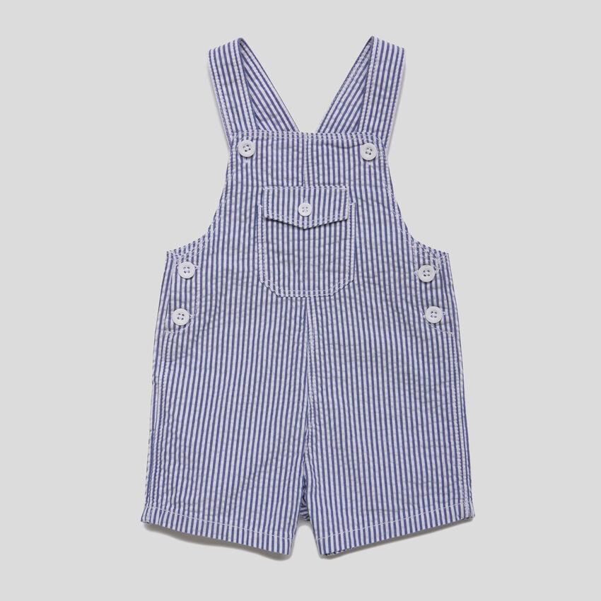 Short striped overalls