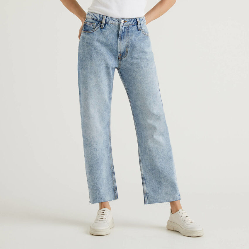 Five pocket jeans with straight leg