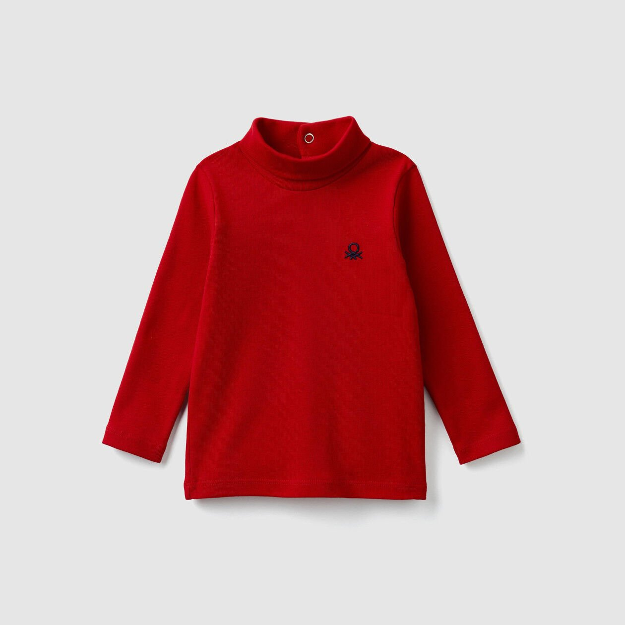 Turtleneck t-shirt in organic cotton