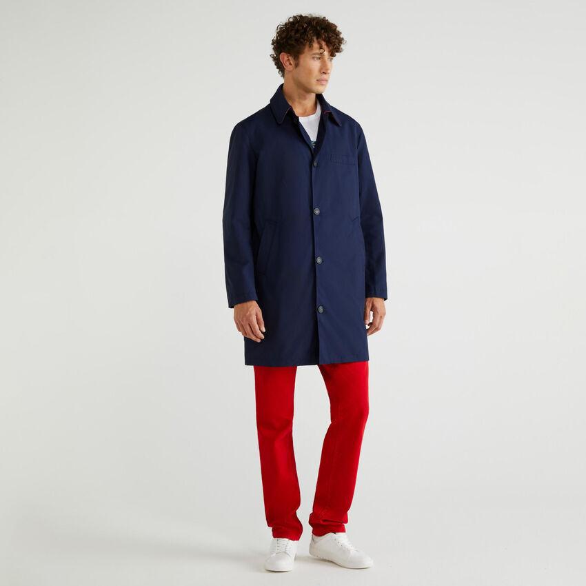 Lined overcoat