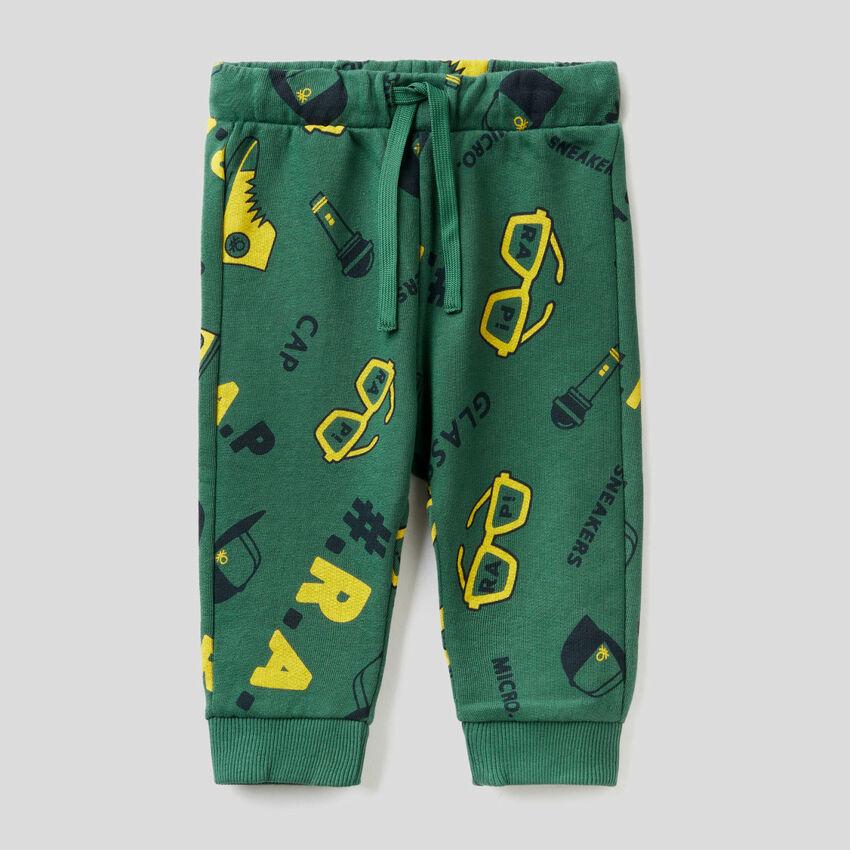 Patterned sweatpants