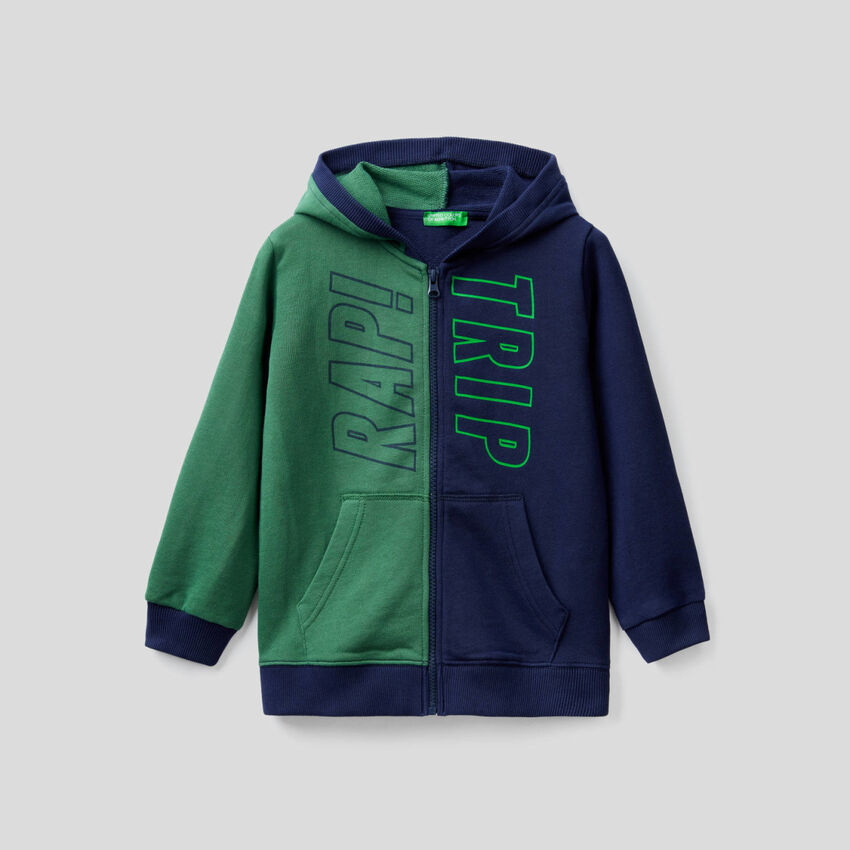 Two-tone hoodie