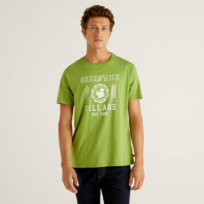 T-shirt with print in 100% organic cotton