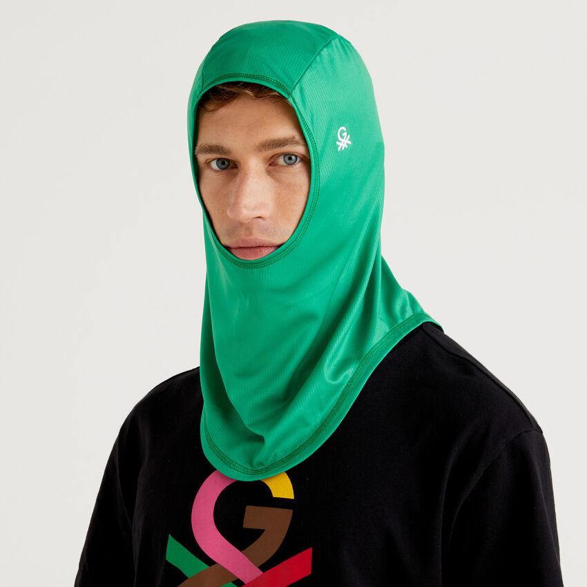 Unisex green hijab with logo by Ghali