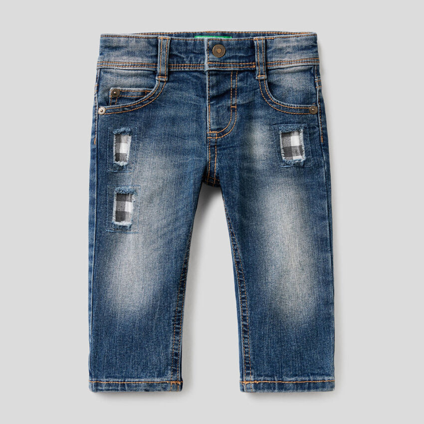 """""""Eco-Recycle"""" jeans with patches"""
