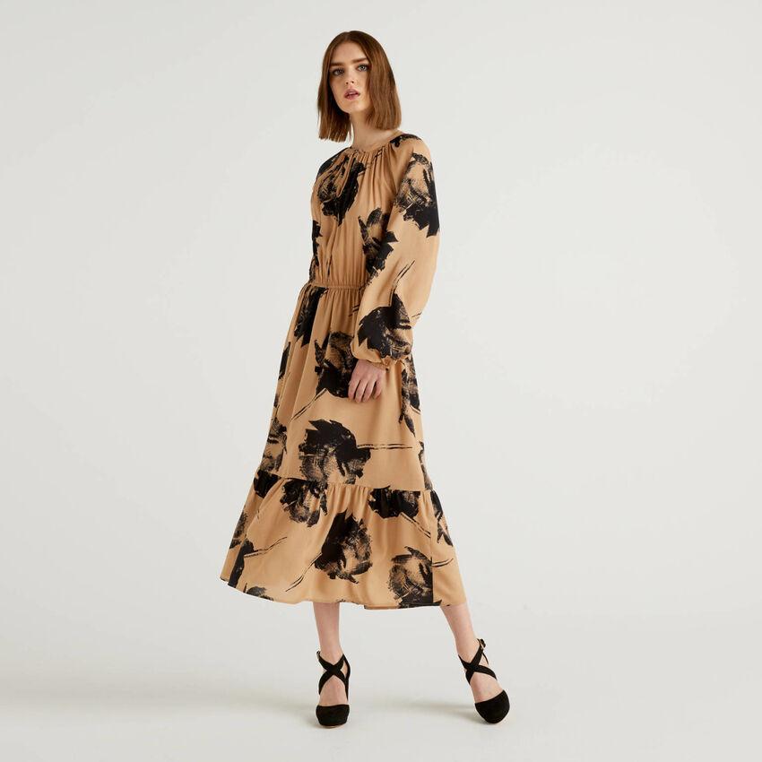 Long printed dress