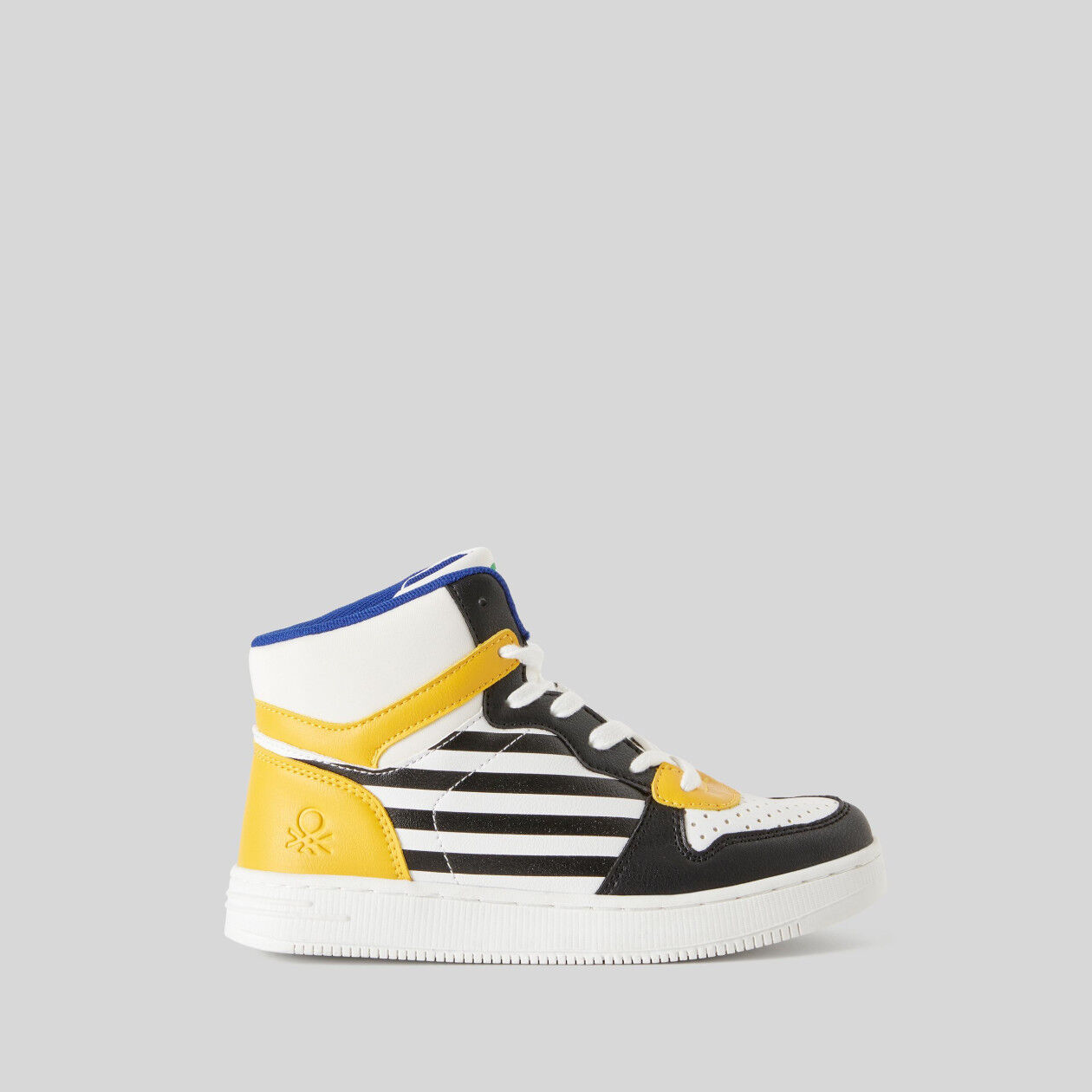Leather look high-top sneakers