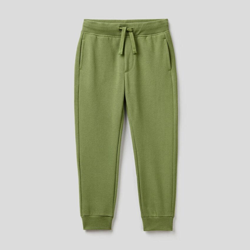 Military green slim fit sweatpants