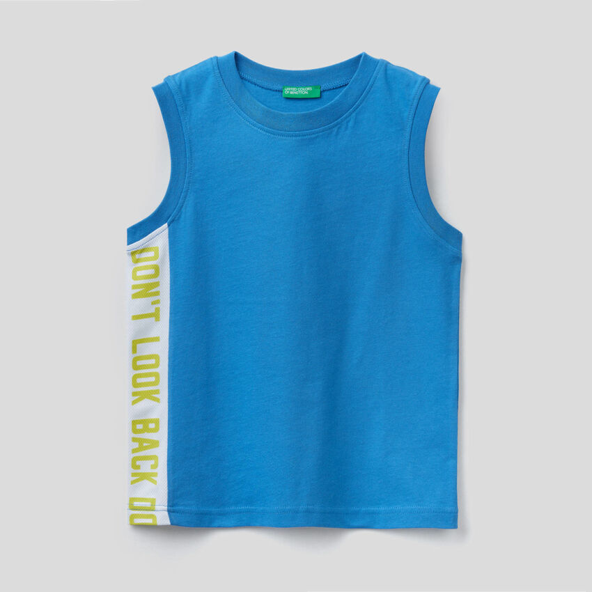 Tank top with clashing band