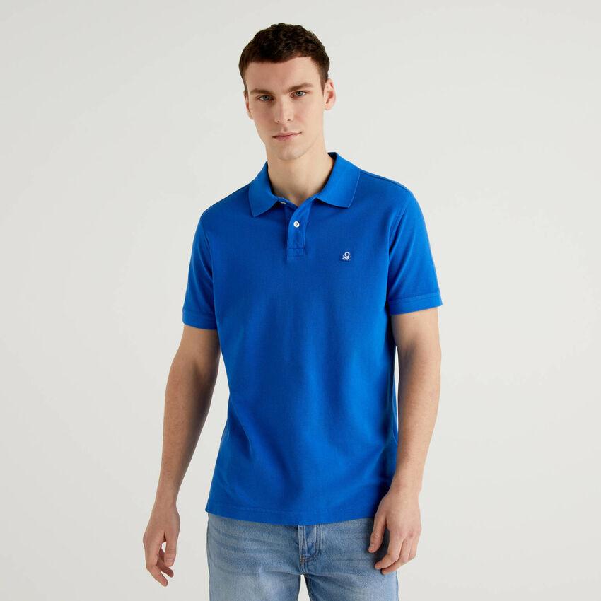Regular fit light blue polo