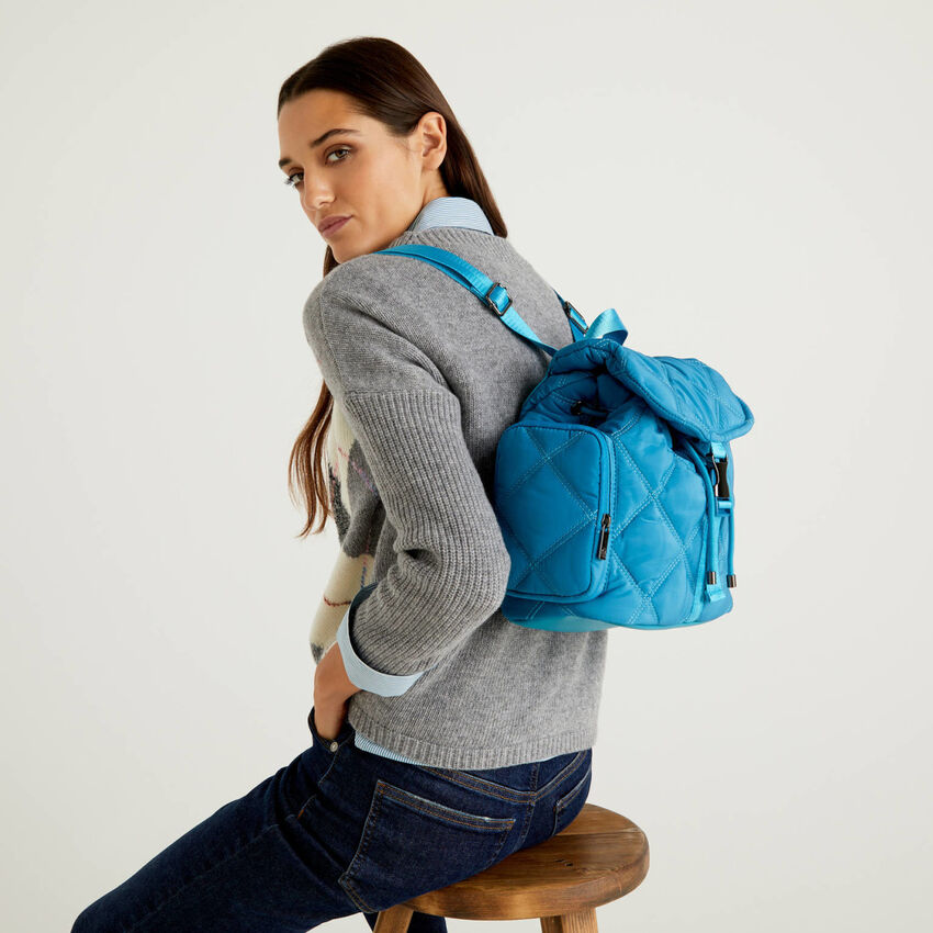 Backpack in quilted fabric
