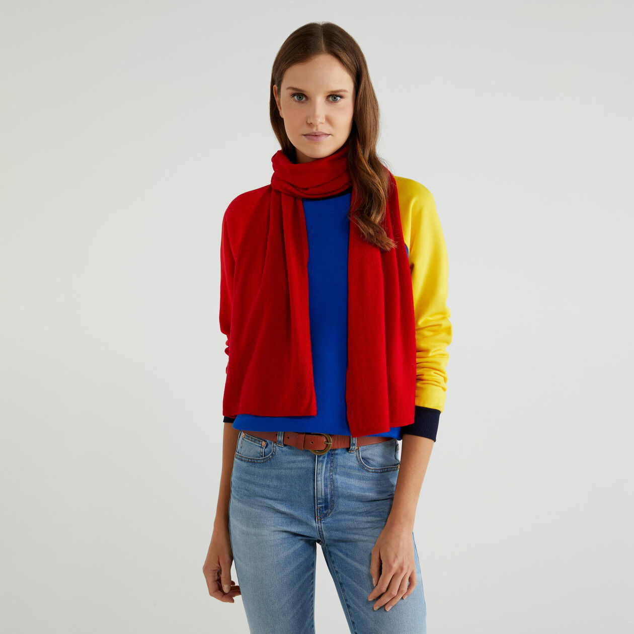 Scarf in wool and cashmere