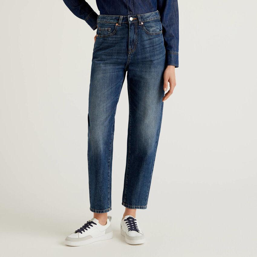 100% cotton boyfriend jeans