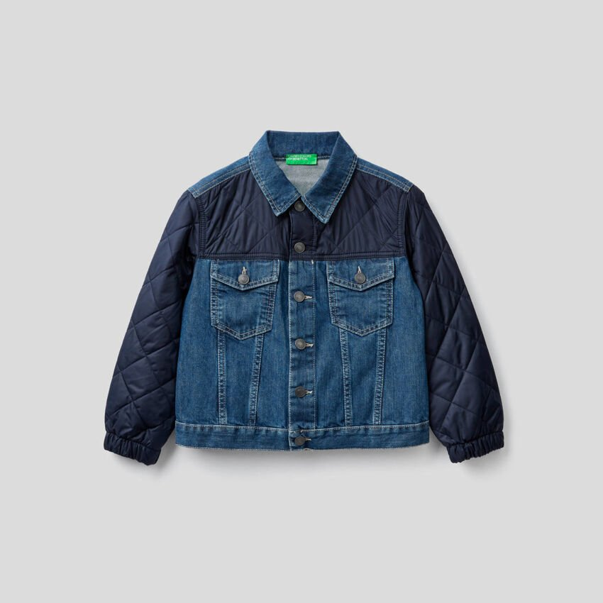 Denim jacket with quilted details