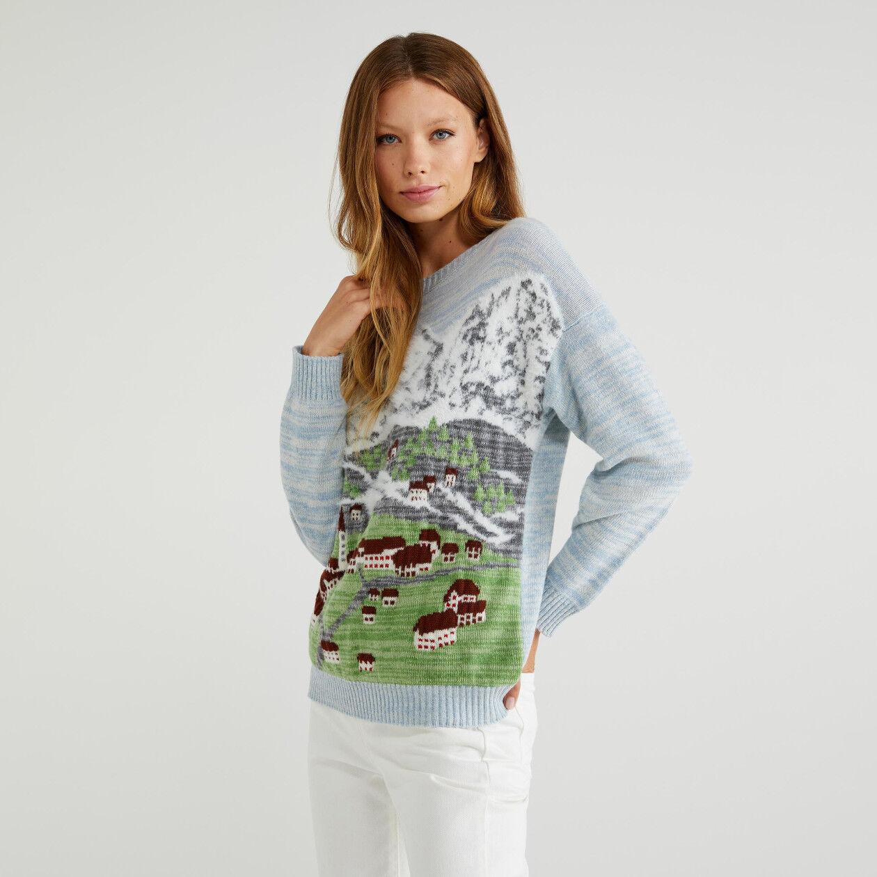 Jacquard sweater
