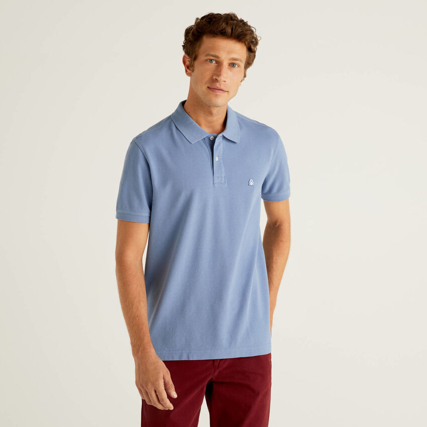 Air force blue regular fit polo