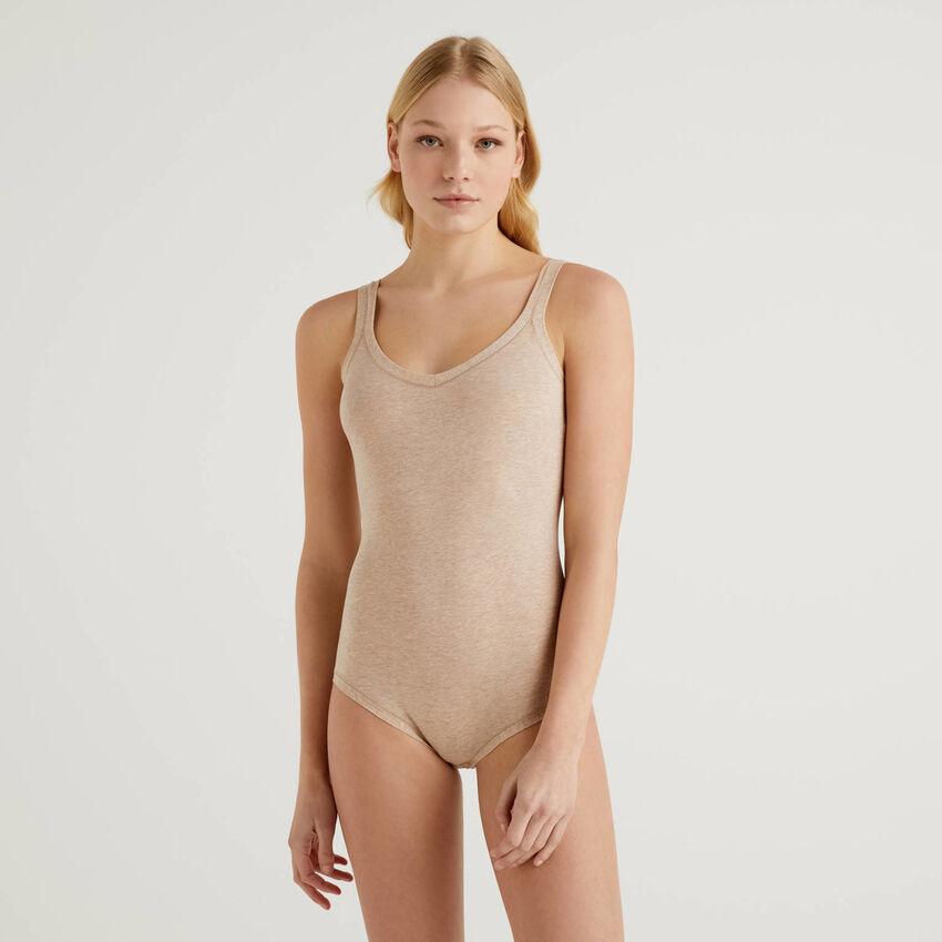 Bodysuit in stretch cotton