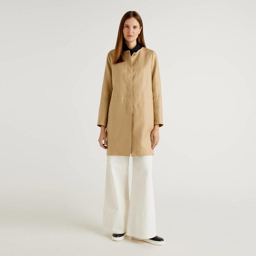 100% linen duster coat