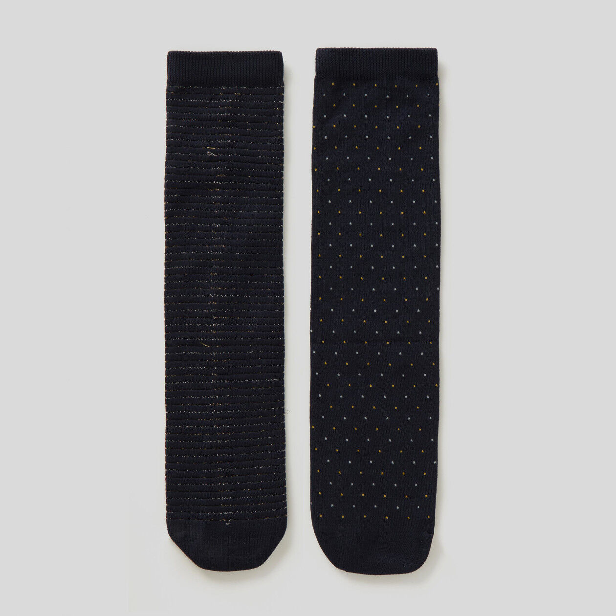 2 pairs of socks with lurex