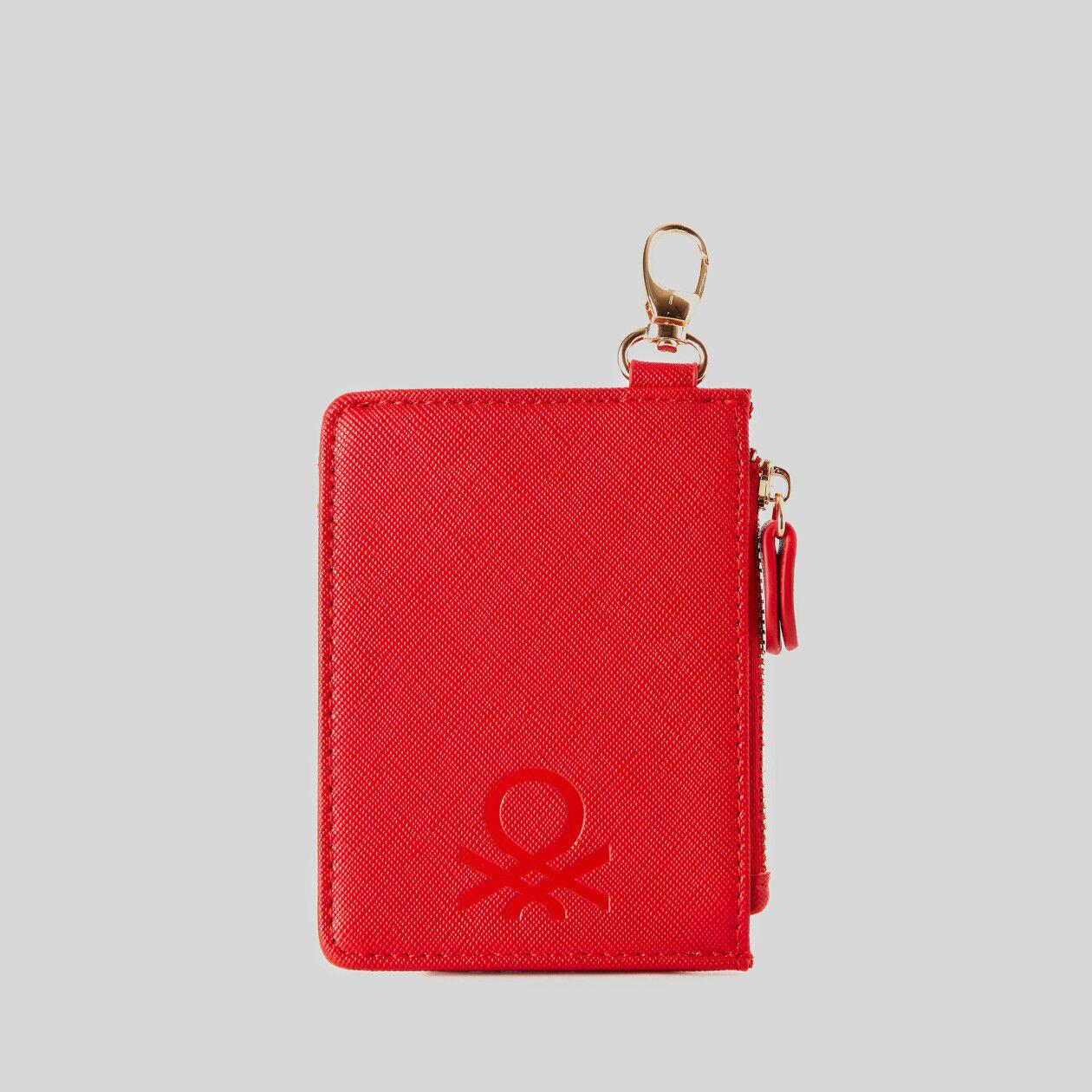 Card holder with keyring