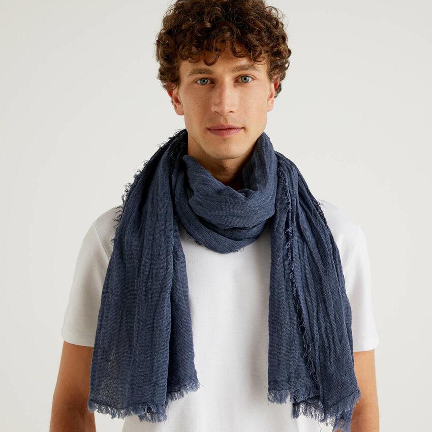 Linen blend scarf