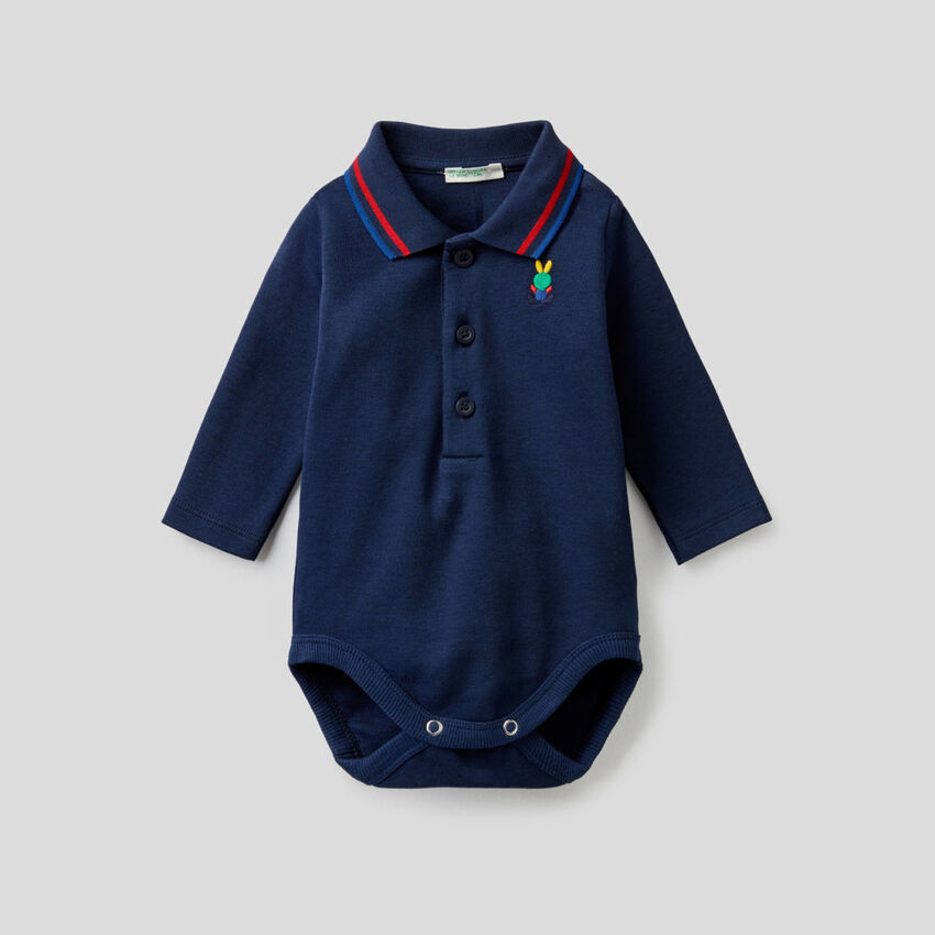 100% cotton polo bodysuit