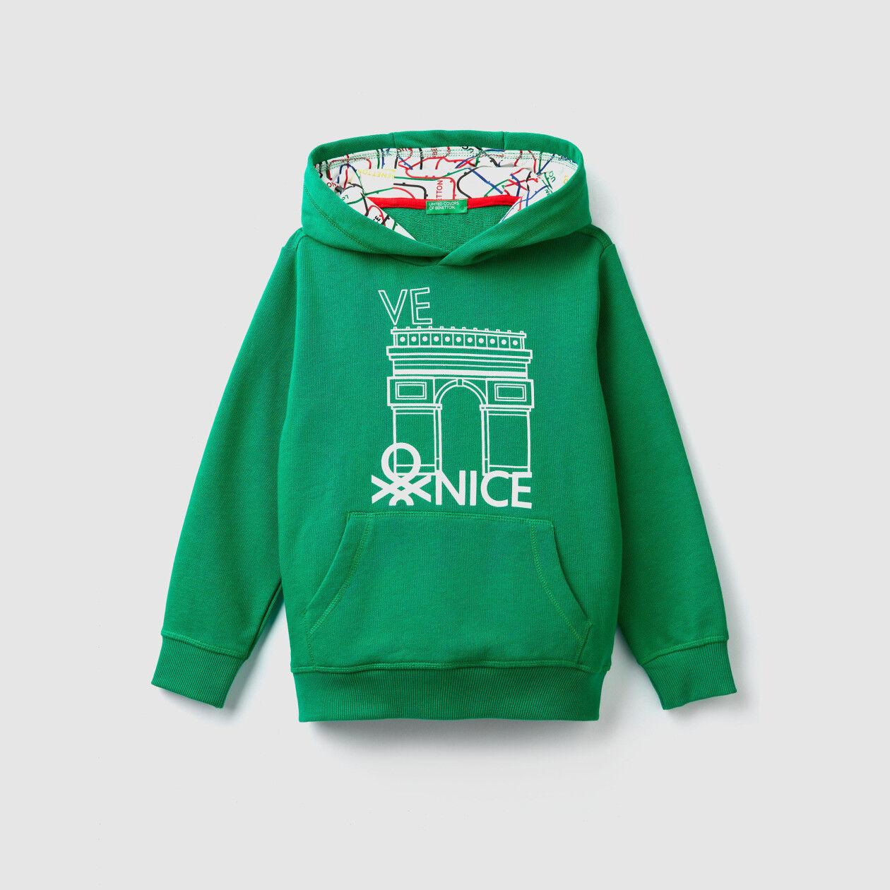 Hoodie with city print