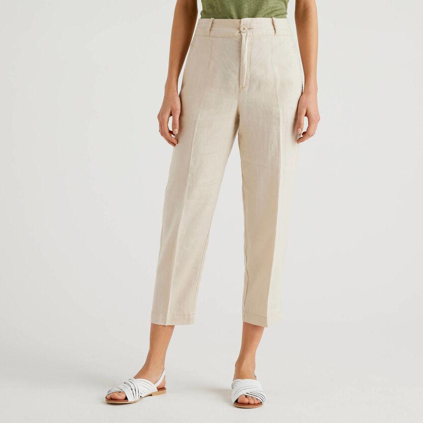 Pants in pure linen