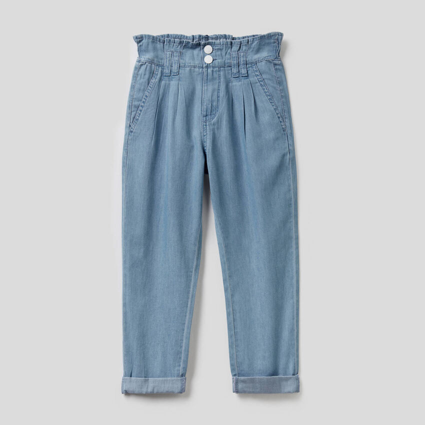 Long trousers in 100% cotton