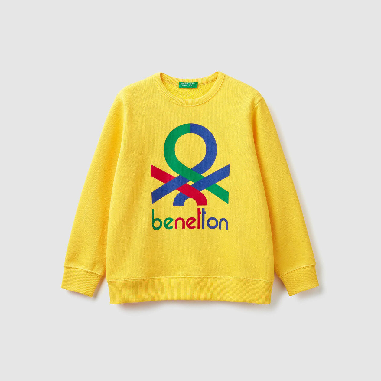 Sweatshirt with multi-color logo