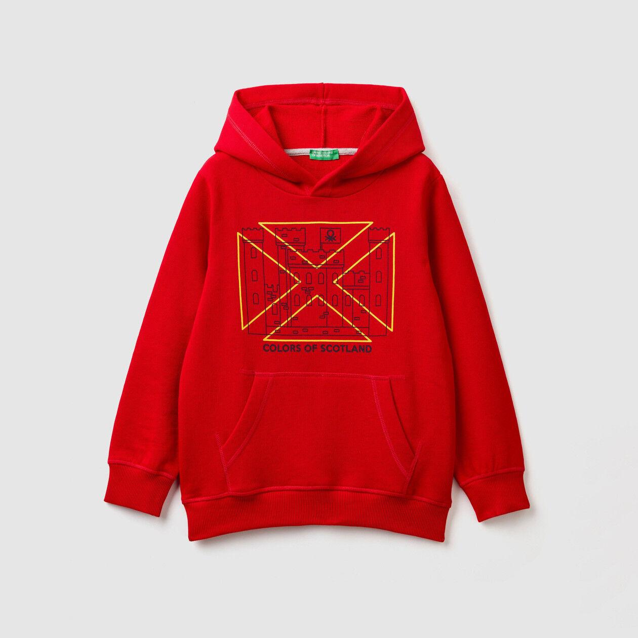 Sweatshirt with print and kangaroo pocket