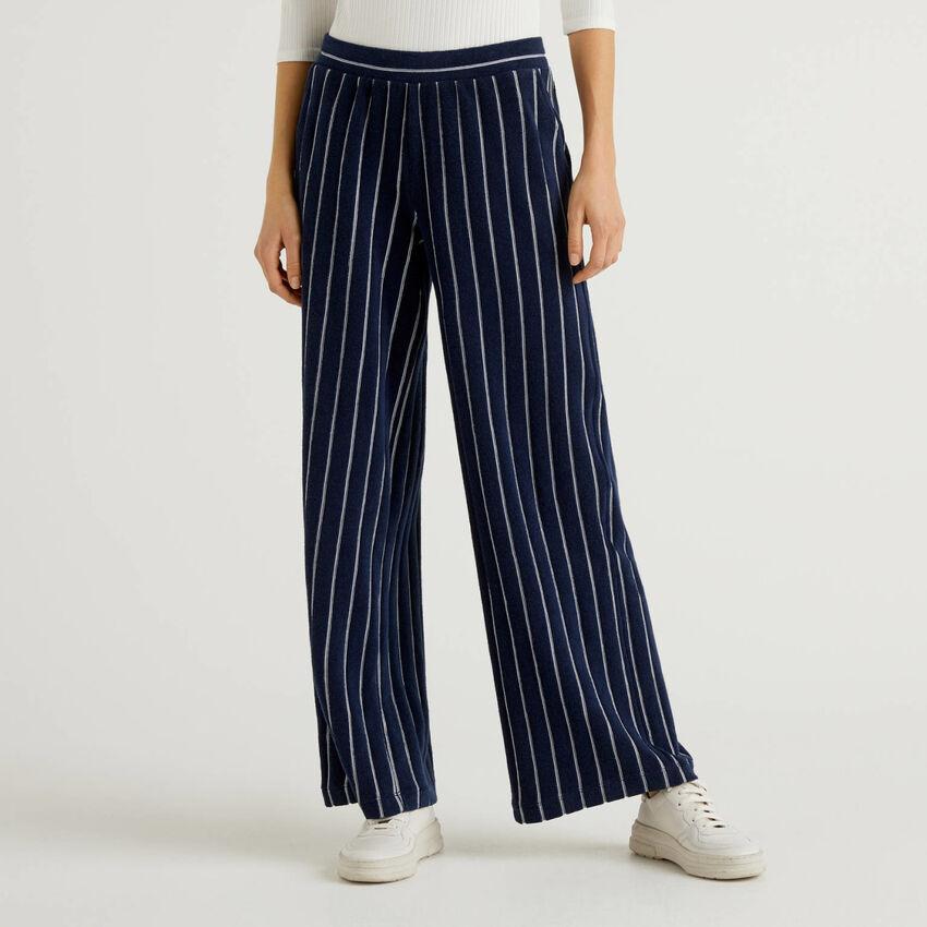 Striped palazzo trousers
